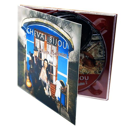 Digipack format CD 2 volets 1 fente