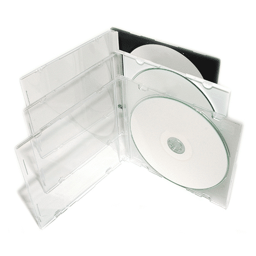 Boîtier CD cristal slim transparent