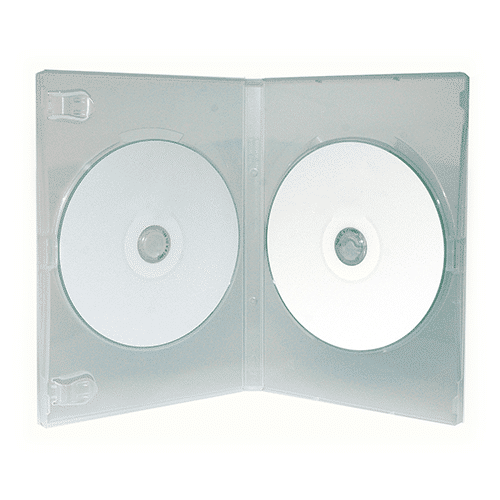 Boitier DVD double transparent