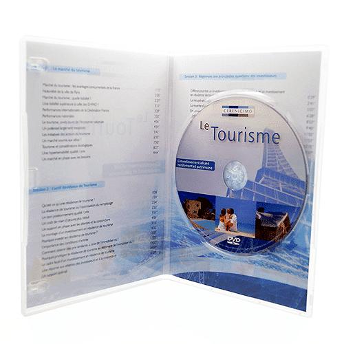Boîtier DVD slim transparent