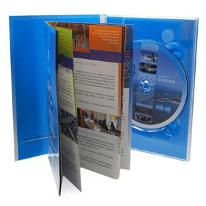 Impression Nantes Digipack format DVD 2 volets 1 plateau + livret