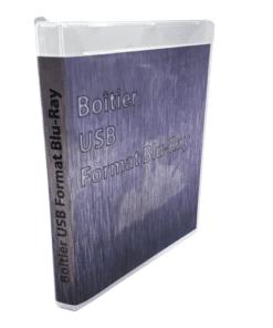 Boîtier plastique USB Format BLU-RAY